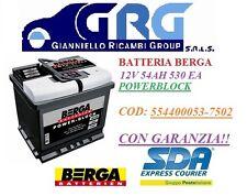 BATTERIA PER AUTO BERGA POWERBLOCK 12V 54 AH 530 EA DI SPUNTO  554400053-7502