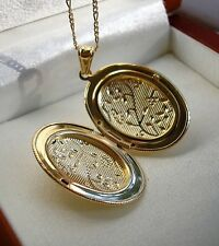GENUINE LARGE 9ct Gold locket chain gf MUST END TODAY 68