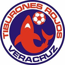 Tiburones Rojos de Veracruz Vinyl Decal Logo Soccer Liga MX Mexico 4 Stickers