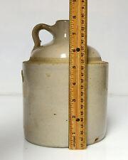 "Vintage Stoneware Crock Jug   Moonshine Whiskey appx  7""  3lb 4oz"