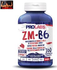 PROLABS ZM-B6 Zinco Magnesio + Vitamina B6 - ZMB6 Aumento Testosterone 160 cpr