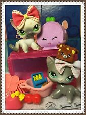 Rare Littlest Pet Shop Lps Shorthair Siamese Cat #125 #126 Accessories Lot