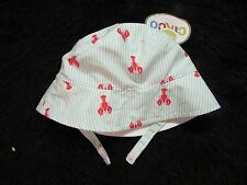Lobster stripes reversible bucket beach hat 6-12mon infant cap Circo new summer