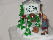 Dept. 56 New England Village Sign, Fresh Paint, Heritage Collection, Holiday Dec