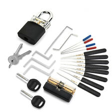Locksmith Supplies Hand Tools with Practice Lock Pick Set Tension Wrench Broken