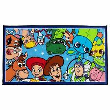 OFFICIAL TOY STORY 4 JUMBLE RUG FLOOR MAT COLOURFUL 55cm x 100cm