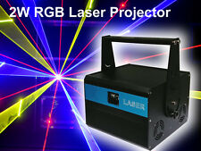 NEW 2000mW RGB Full Color ILDA DMX DJ Party stage Laser projector 2W lighting