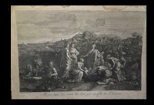 [BIBLE JUDAICA]  POUSSIN (Nicolas) /  AUDRAN (Gérard) - Moïse tiré du Nil C.1680