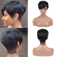 Womens Ladies Natural Short BOB Full Wig With Bangs Synthetic Hair Cosplay Party