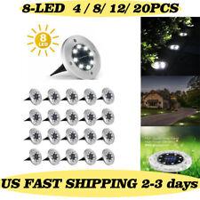 New listing 8 Led Solar Lights Under Ground Garden Lawn Deck Path Yard Outdoor Waterproof