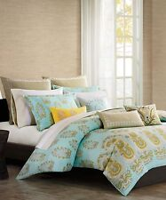 ECHO DESIGN PAROS 3PC, 1 FULL QUEEN DUVET COVER 2 STANDARD SHAMS