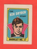 1971-72 O-Pee-Chee OPC  # 17 Ken Dryden RC  Nrmnt+