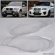Pair Lens Lamp Cover For BMW X5 E70 2007-2012 Headlight Headlampshade Bright