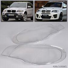 Pair Lens Lamp Cover For BMW X5 E70 2007-2012 Headlight Headlampshade Bright