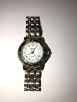 RAYMOND WEIL TANGO GOLD SILVER TWO TONE STAINLESS STEEL LADIES WRIST WATCH 5360