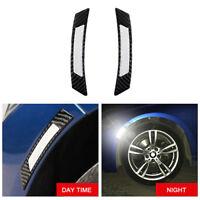 2Pcs Carbon Fiber Universal-Auto Kotflügel Seitenwände Reflective Aufkleber Hot