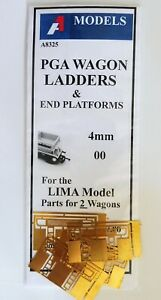 PGA Wagon Ladders & end Platforms 4mm for the Lima Model.  Enough for 2 wagons.