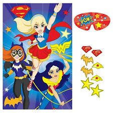 DC Super Hero Girls Birthday Poster 8 Player Party Game Set
