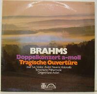 "BRAHMS DOPPELKONZERT A-MOLL TRAGISCHE OUVERTÜRE SUK NAVARRA ANCERL 12"" LP (j332)"