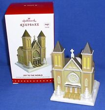 Hallmark Magic Christmas Ornament Joy To The World 2015 Church Sound NIB