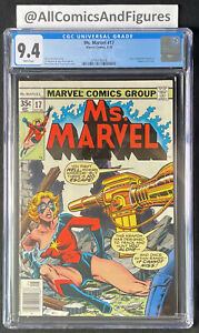 Ms. Marvel #17 CGC 9.4 WHITE Pages! First Appearance of Mystique! HOT!