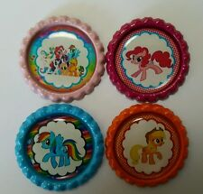 Flattened Bottle Caps for Hair Bows, Jewellery & Crafts-My Little Pony Set 1 x 4