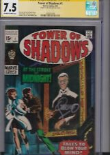 TOWER OF SHADOWS #1 CGC 7.5 SS SIGNED JIM STERANKO O/W WHITE PAGES MARVEL COMICS