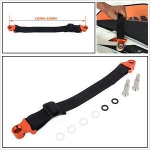 CNC Adjustable 135mm-350mm Motorcycle Rear Rescue Pull Bundle Belt Draw Leashes