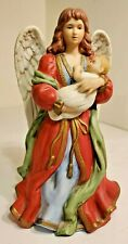Home Interiors Homco Heavens Treasures Porcelain Angel Holding Baby Figurine
