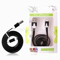 CAVO DATI NERO USB SYNC CARICA LIGHTNING per IPHONE 5 5S 5C 6 6 Plus IPAD 4