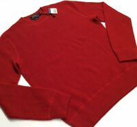 $398 Polo Ralph Lauren 100% Cashmere Soft Pullover Waffle Knit Sweater Crewneck