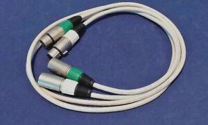 QED QUNEX 2 Dual  Balanced Low Noise Audio Interconnect Cables (XLR Termination)