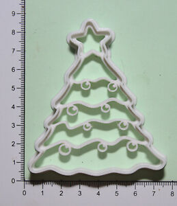 Christmas tree Cookie or fondant  Cutter 3d printed