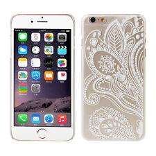 Alheña Blanco Floral Flor El plastico Fundas carcasas Case for iPhone 5S SE 6 6S