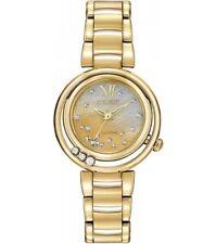 New Citizen Eco-Drive Sunrise Gold-Tone Steel Ladies Diamond Watch EM0322-53Y