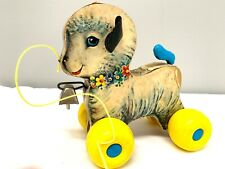 Vintage Fisher Price Pull Toy Little Lamb #684 1960's