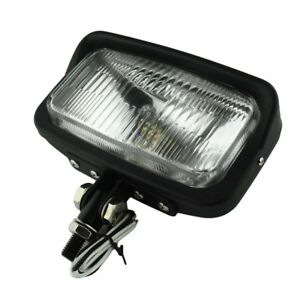 """6.5""""x 3.5"""" Square Black Headlight Motorcycle Bottom Mount Head Lamp For Harley"""