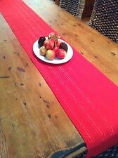 Modern Red and Red Metallic Thread Table Runners, 109cm x 34cm
