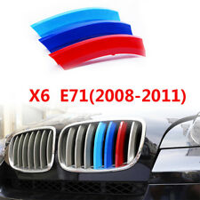 M-Color Sport 3D Kidney Grill Grille Bar Cover Trim for BMW X 6 E71 2008-2011