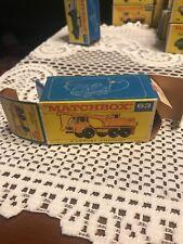 Vintage DIECAST MATCHBOX LESNEY # 63 DODGE CRANE TRUCK Box Only