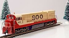 Athearn GE U30C SOO Line #800, Blue Box, Powered HO Scale Locomotive