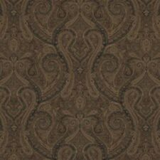1.4 yd Brown Paisley Ralph Lauren Upholstery Fabric Assyrian Paisley CL Cordovan