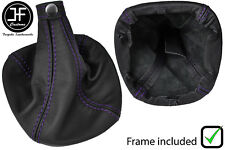 PURPLE STITCH LEATHER GEAR BOOT WITH PLASTIC FRAME FITS ALFA ROMEO MITO 08-17