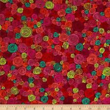 Fat Quarter Kaffe Fassett Rolled Paper - RED - Cotton Quilting Fabrics