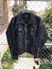 Other Uk Oversize Raglan Zip Trucker Jacket Black Paint Like Represent Levi Zara