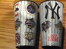 NEW YORK YANKEES STADIUM World Series Patch Collector Cup and a crazy straw