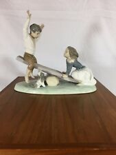 "Lladro ""See-Saw"" Mint Condition IN ORIGINAL BOX"