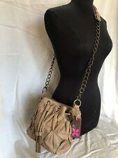 Bolsa de mujer con diseño de patrón de Cuero Bronceado Cadena de Eslabones Correa Para El Hombro