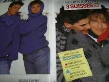 3 Suisses Unisex Collection Knitting Book- 30 Designs - Sizes 32-38 Inches