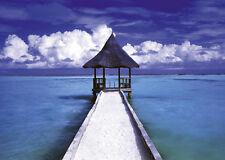 Poster: MALEDIVES HUT - Malediven  ca.60x90cm NEU (55597)